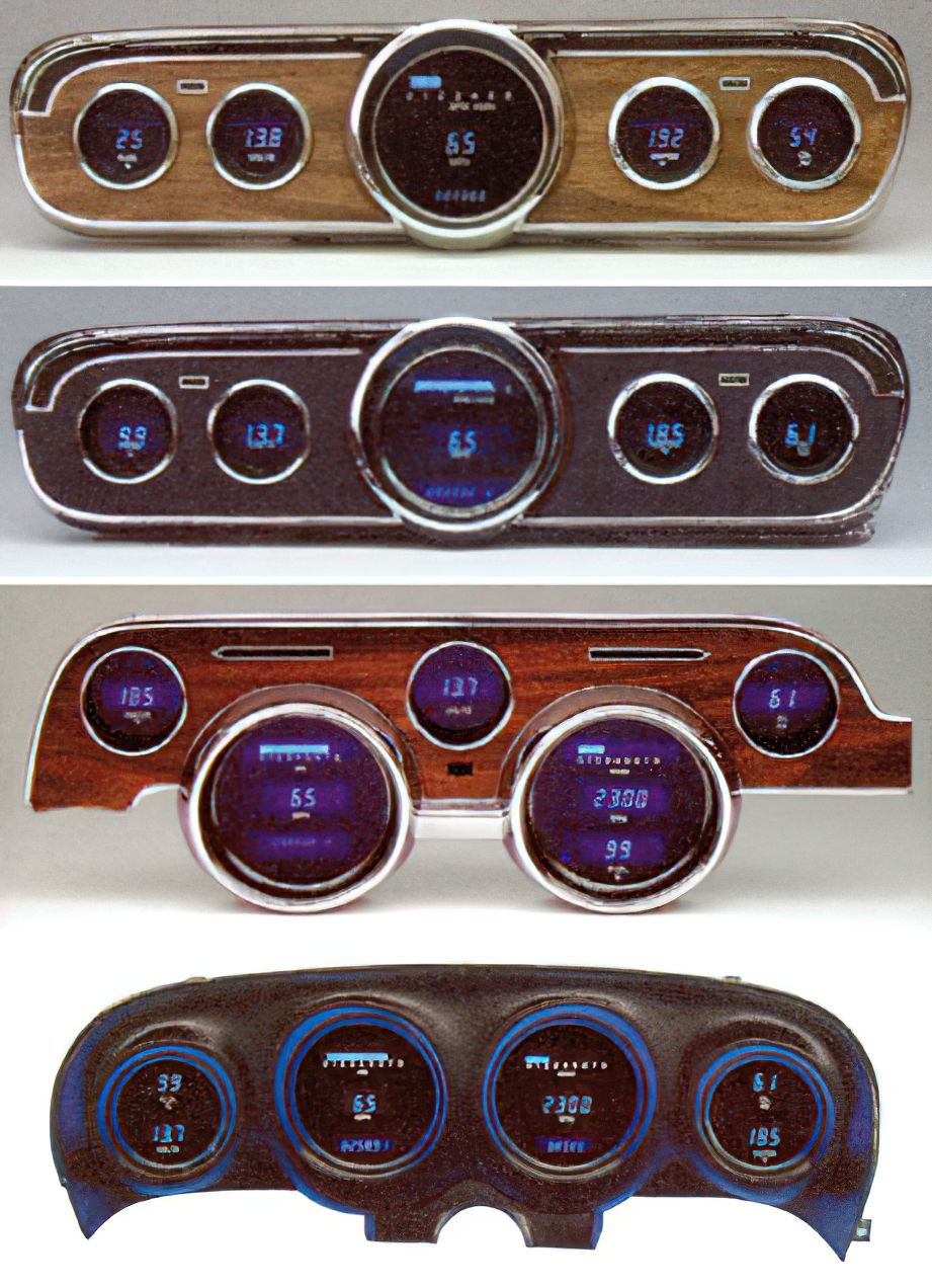 1965 Dakota Digital Instrument Clusters - GT, GT Style