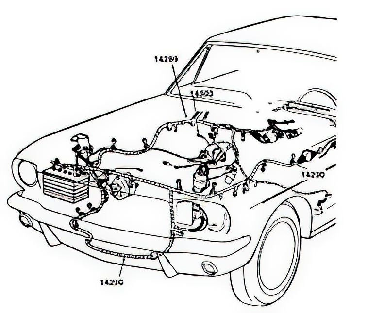 Excellent 64 71 Mustang Firewall To Engine Engine Compartment Electrical Wiring Digital Resources Funapmognl