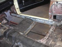 Floor pan restoration repair
